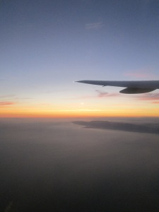 Sunset Over the Pacific From A Plane