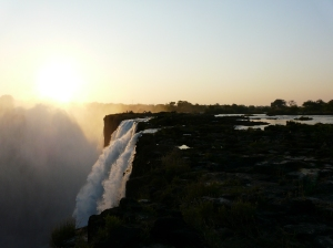 Sunset On The Falls