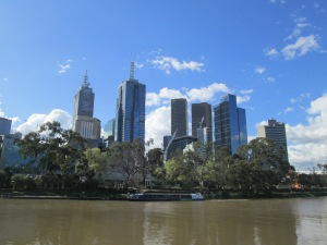 Melbourne CBD from Southbank.