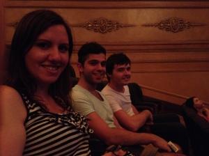 IElena, Brent, Chris at Regent Theatre