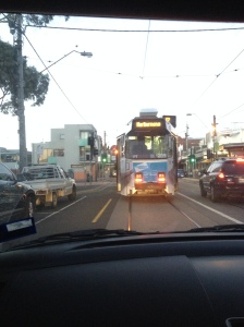 Driving Behind The Tram