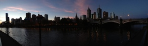 Melbourne CBD Panorama From Southbank Promenade