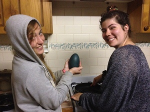 Cooking An Emu Egg
