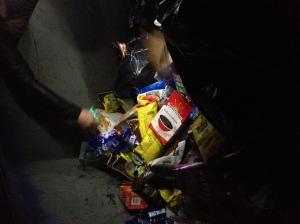 Inside A Supermarket Waste Bin