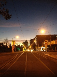 Wellington Parade At Dusk