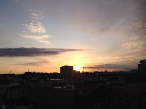 Sunset From 63 Bouverie Street