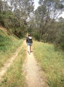 Elena Walking Through The Park