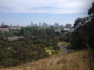 Melbourne Skyline From Yarra Bend Park