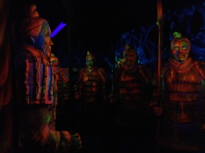 Painted Soldiers In A 3D Maze