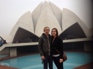 Chris And Elena At The Lotus Temple