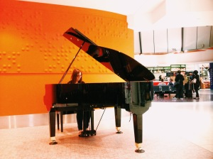 Elena On The Baby Grand At Melbourne Airport