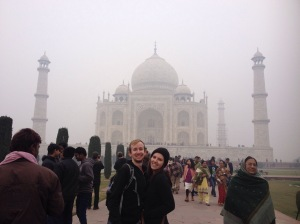 Chris And Elena At The Taj Mahal
