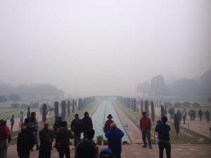 Fog Surrounding The Taj Mahal