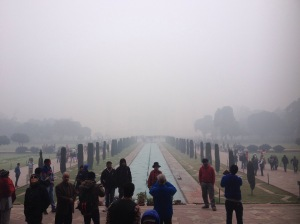 Fog Surrounding The Taj Mahal