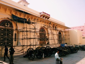 Scaffolding At The City Palace