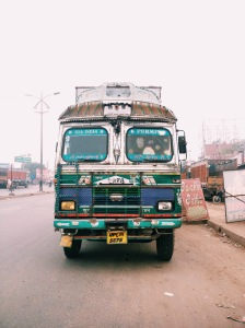 The Front Of An All India State Truck