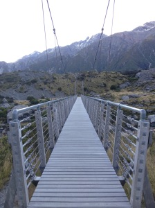 A Supsension Bridge In Hooker Valley