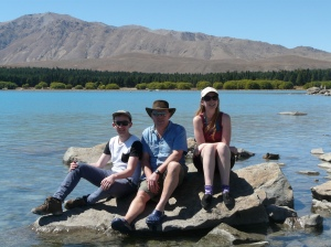 Chris, Paul & Lisa Lake Tekapo