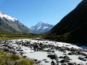 Mount Cook Through Hooker Valley