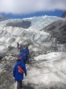 A Tour Group On The Franz Josef Glacier