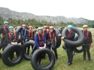 Black Water Rafting Group Shot Before