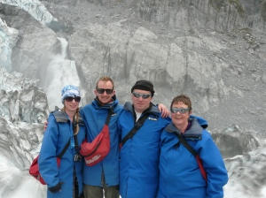 Lisa, Chris, Paul, & Sue on Franz Josef
