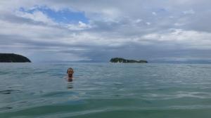 Chris Having A Swim