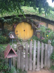 Hobbit Hole With A Yellow Door