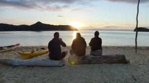 Jason, Sue And Paul Watch The Sunrise At Apple Tree Bay