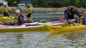 Setting Up The Kayaks