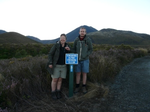 Sue And Chris At The Start Of The Tongariro Crossing