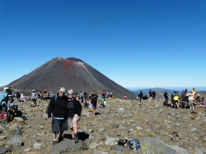 Sue And Paul At The Top of The Tongariro Crossing