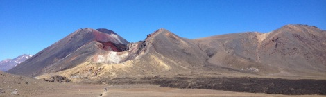The view from the central crater of the Tongariro Crossing.