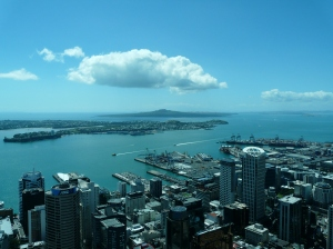 Auckland Harbour From The Sky Tower