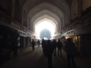 Inside The Bazaar At The Red Fort