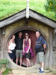Sue, Chris, Lisa and Paul In A Hobbit Hole