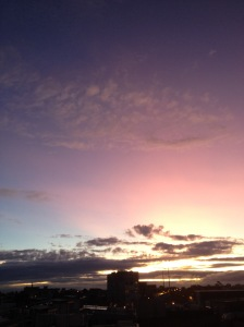 Purple Skies Over North Melbourne