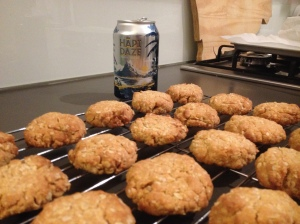 A Tray Of Anzac Biscuits