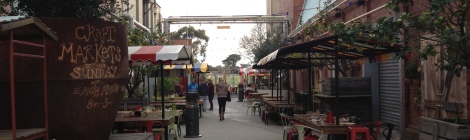 The courtyard at Little Creatures, Geelong.
