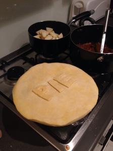 Steak & Ale Pie Ready For The Oven