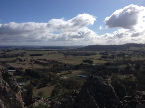 The view from the top of Hanging Rock.