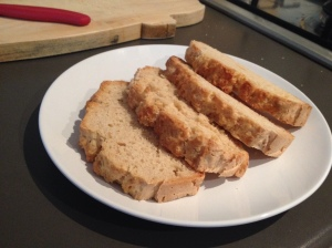 Slices of beer bread.