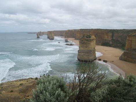 The remaining limestone stacks along the Great Ocean Road.