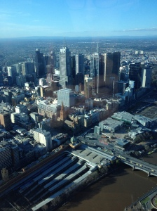 Melbourne CBD from the Eureka Skydeck.