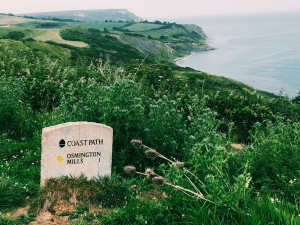 Osmington Mills Coast Path Sign