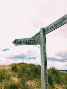Coast Path Sign Post