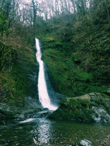 White Lady Waterfall In Lydford Gorge