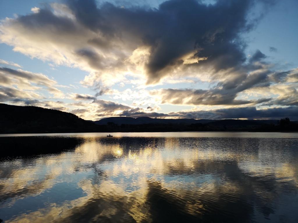 Trout Fishing On Lake Tutira