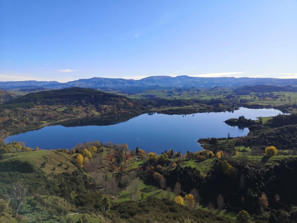 Lake Tutira From Table Mountain