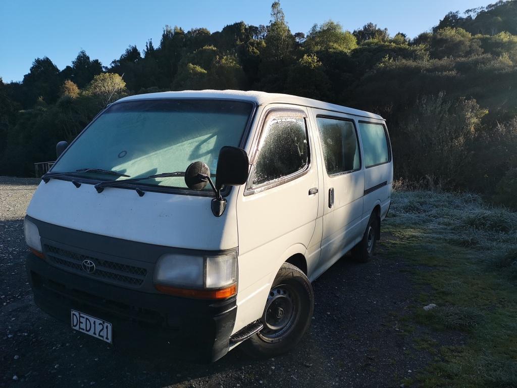 Frost Covered Van
